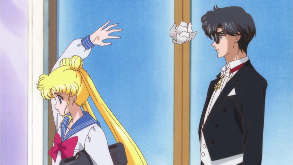 Usagi y Mamoru, aka Tuxedo Kamen o El Señor del Antifaz (a quién se le ocurrió ese nombre?)
