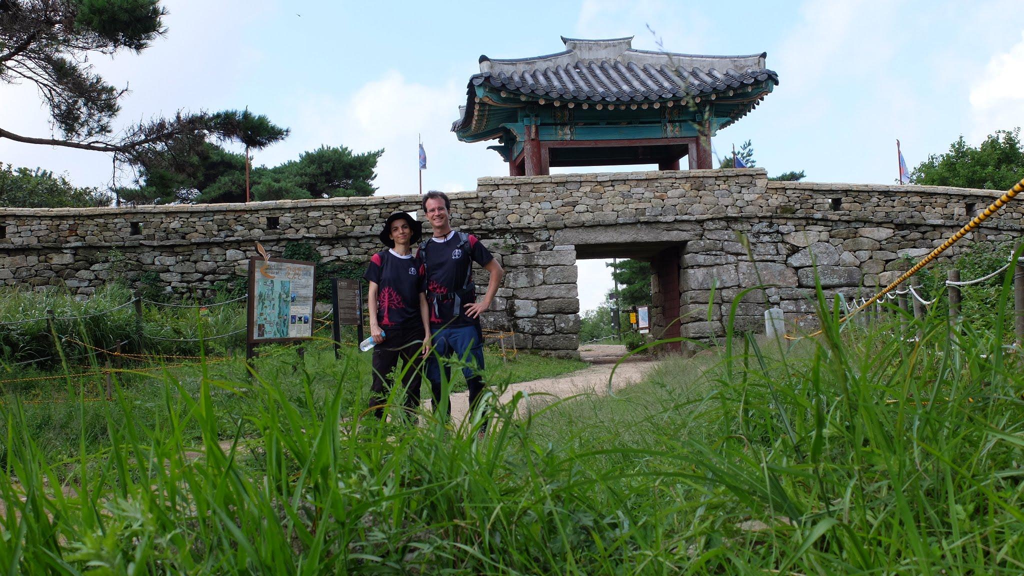 En la fortaleza cerca de Busán